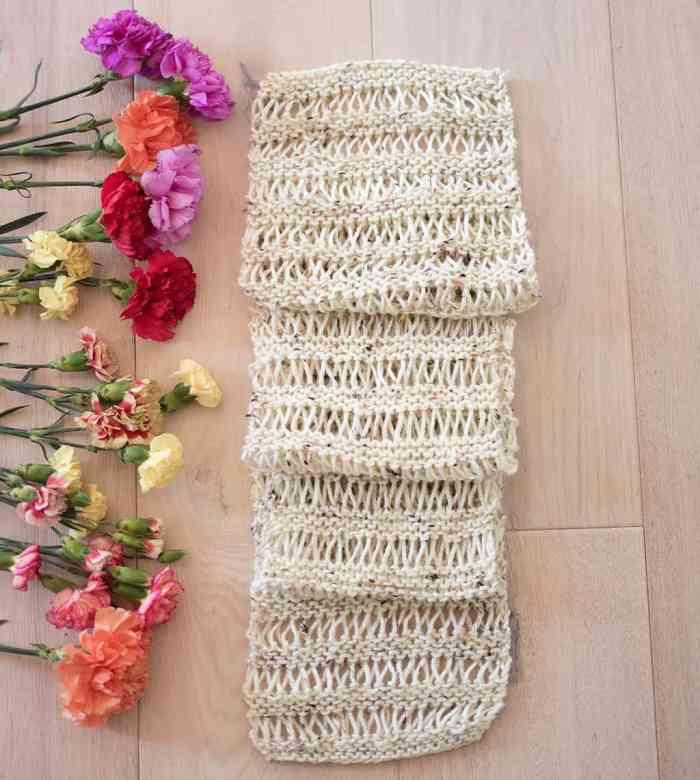 Drop Stitch Scarf Knitting Pattern