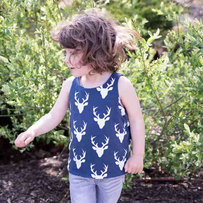 How to Sew a ReversibleTank for Kids