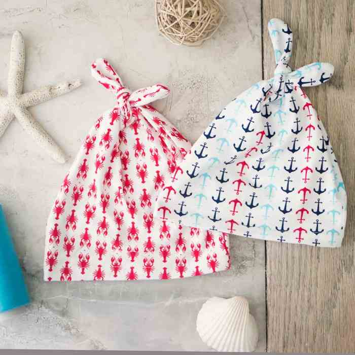 Double Top Knot Baby Hat Sewing Pattern