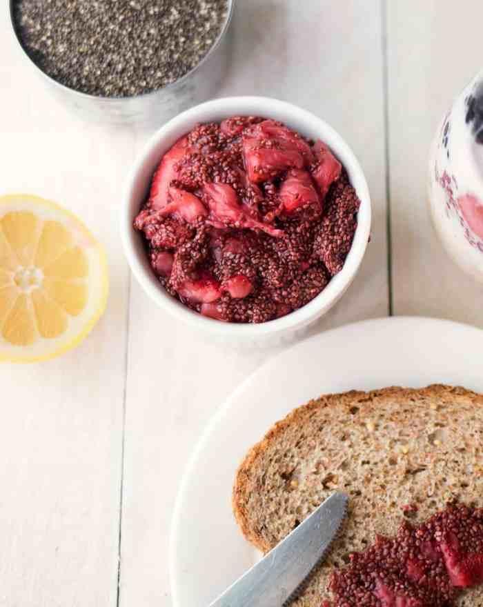 5 Minute Chia Seed Jam- Only 4 Ingredients!