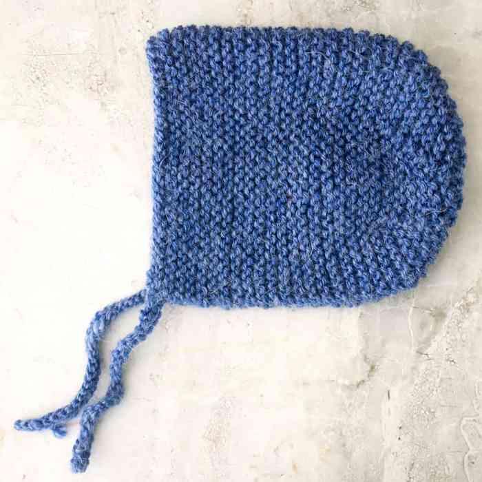 Flat Knit Baby Bonnet
