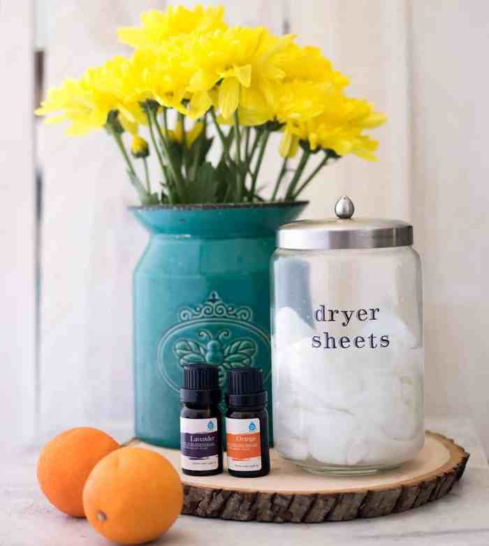 Homemade Essential Oil Dryer Sheets- Reusable & All-Natural