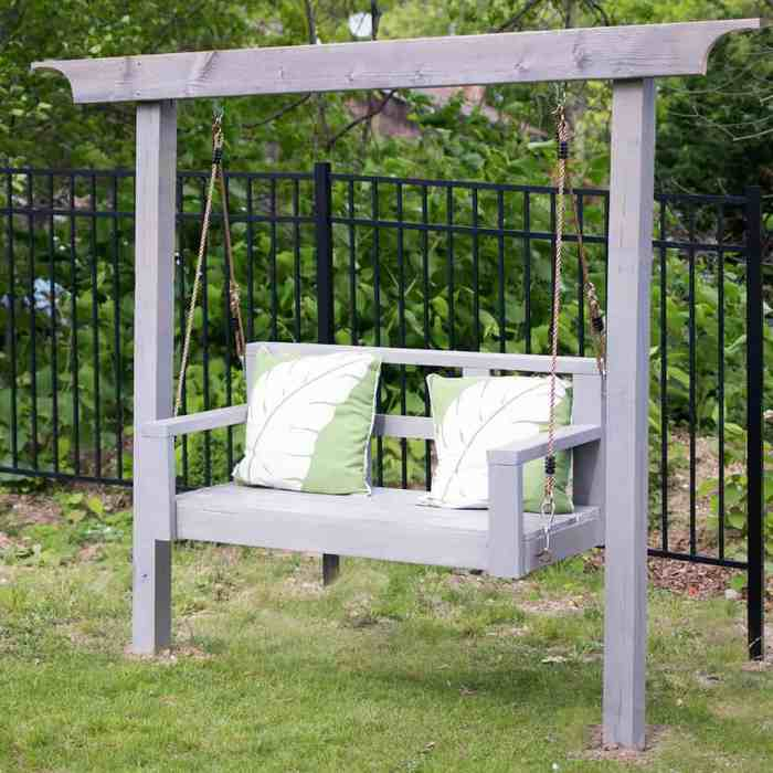 How To Build A Porch Swing Stand How To Hang A Porch Swing Gina Michele