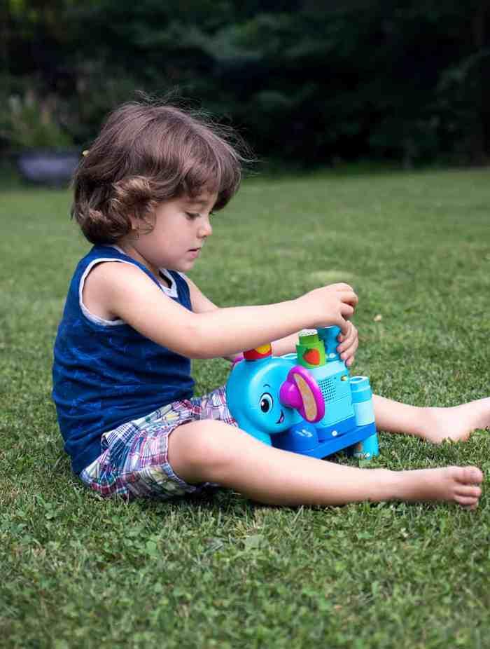 Educational Toys We Love- LeapFrog LeapBuilders Fruit Fun Elephant