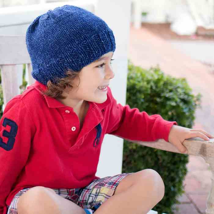 Kid's Basic Beanie Knitting Pattern by blogger Gina Michele