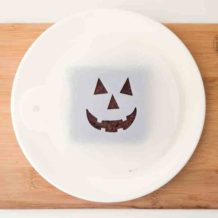 Vegan Halloween Brownies- Black Bean with Jack-O-Lantern Faces