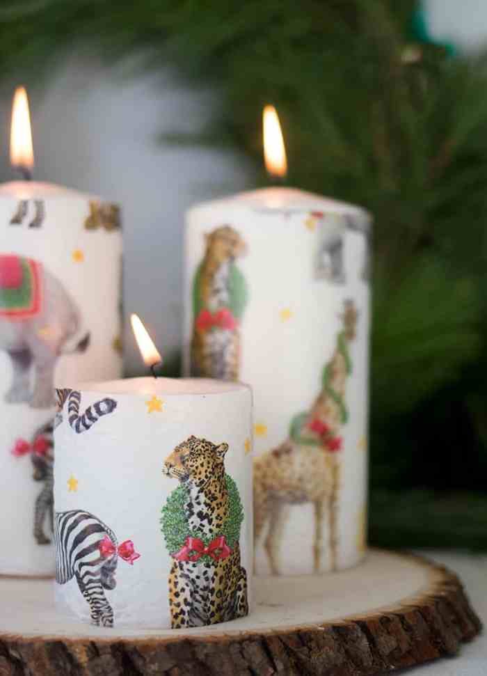 5 Minute Printed Candles