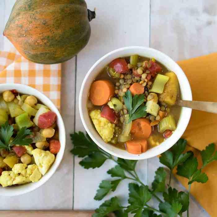 Slow Cooker Vegan Lentil Vegetable Stew