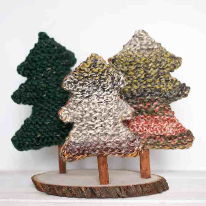 Easy Christmas Tree Knitting Pattern
