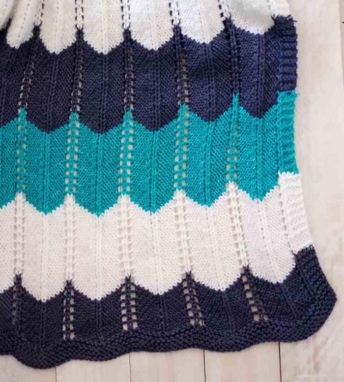 Waves Baby Blanket Knitting Pattern