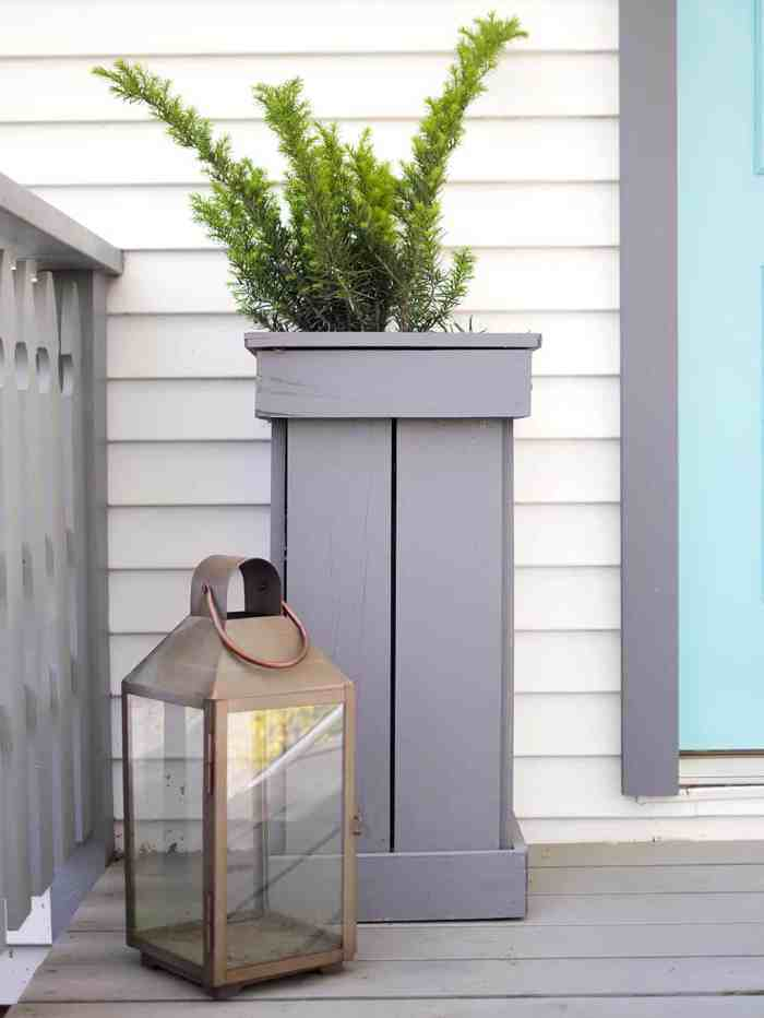 How to Build Tall Outdoor Planters