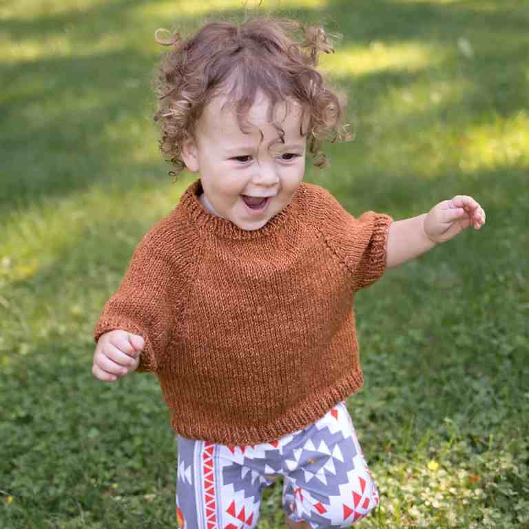 Beginner Top Down Baby Sweater Knitting Pattern