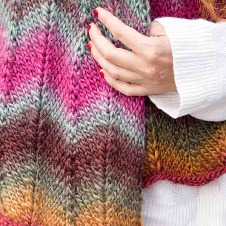 Easy Chevron Scarf Knitting Pattern