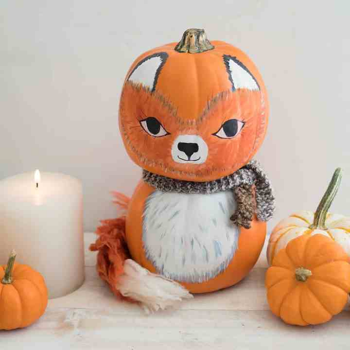 DIY Craft Pumpkin Fox