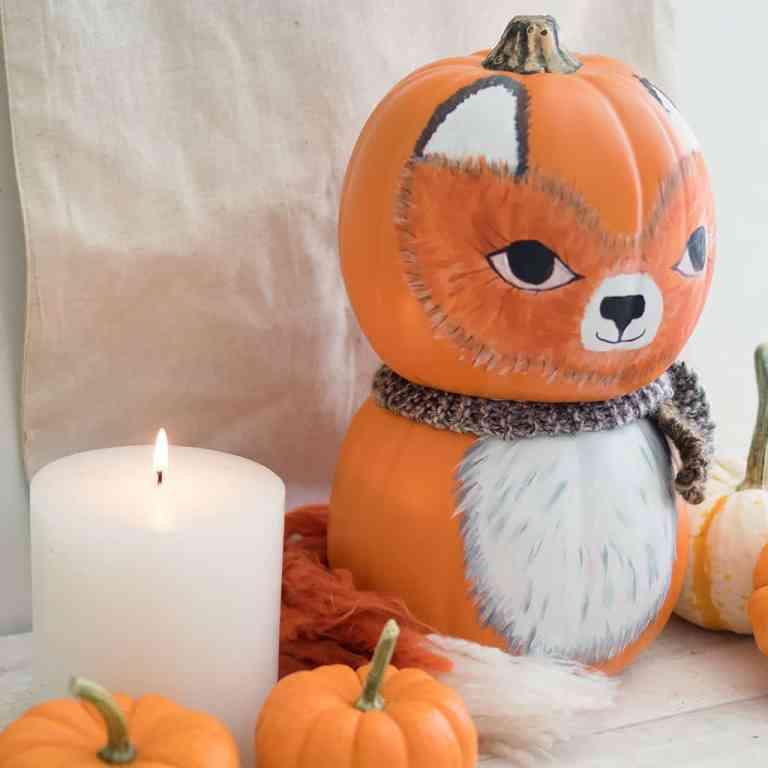 DIY Craft Pumpkin Fox