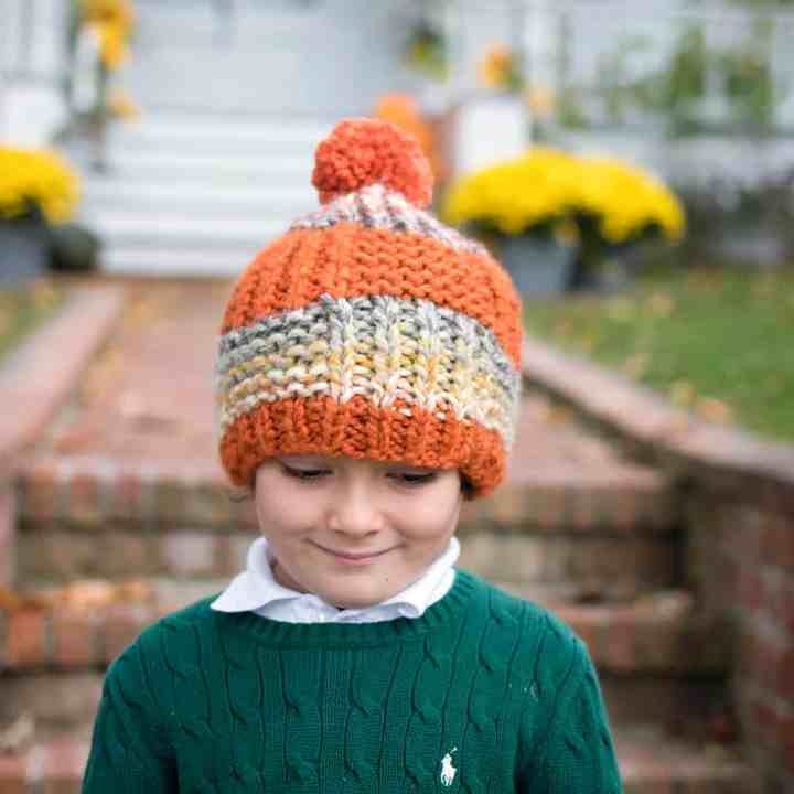 Beginner Flat Knit Kids Hat