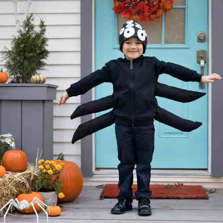 Easy DIY Spider costume