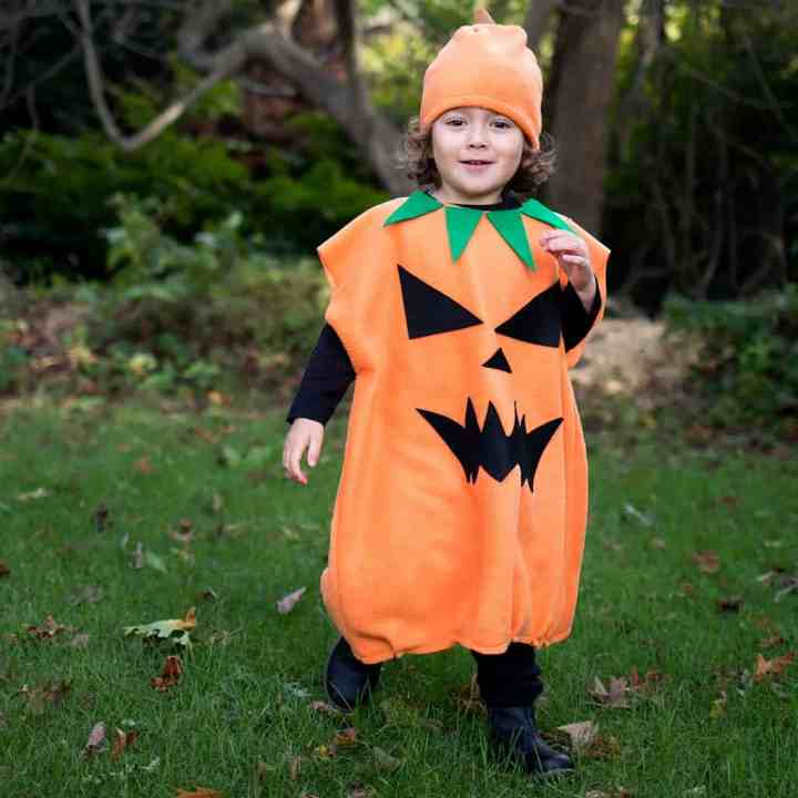 DIY Kids Jack-O-Lantern costume