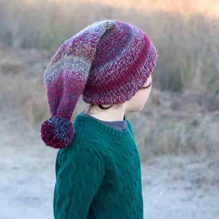 Easy Kids Stocking Hat Knitting Pattern