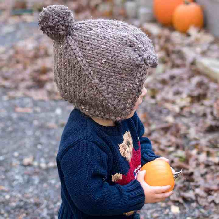 Flat Knit Thick & Quick Toddler Hat