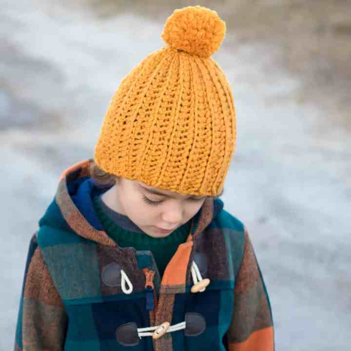 How to Crochet the Easiest Hat Ever