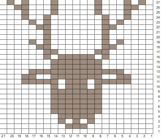 Kids Nordic Rudolph Hat Knitting Pattern