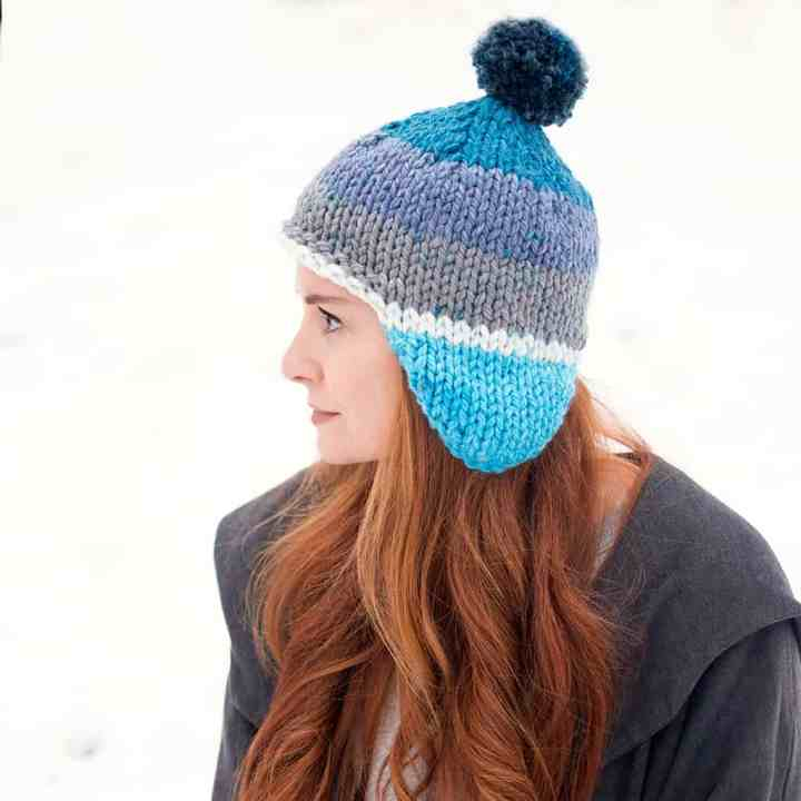Flat Knit Thick & Quick Hat Pattern