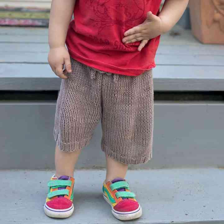 Easy Toddler Shorts Knitting Pattern