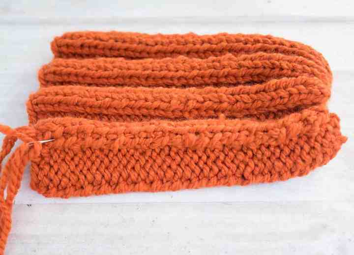 Easy Jumbo Pumpkin Knitting Pattern