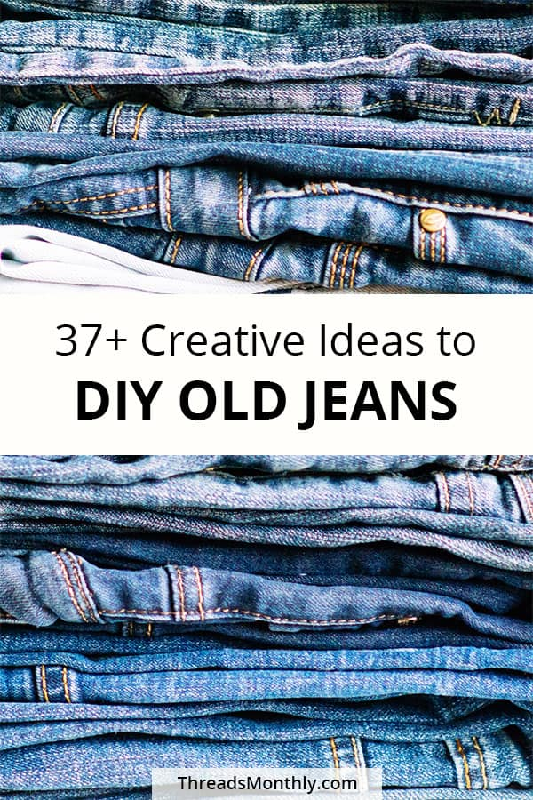 Reuse Old Jeans: 37 Creative DIY Ideas for Bags & Home Decor