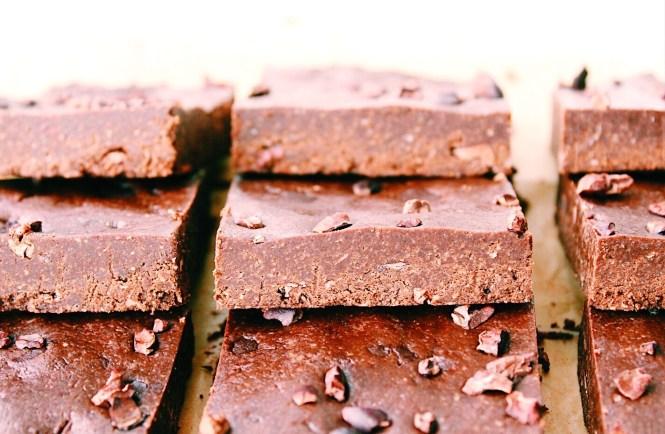 Chocolate freezer bars {vegan, gluten free}