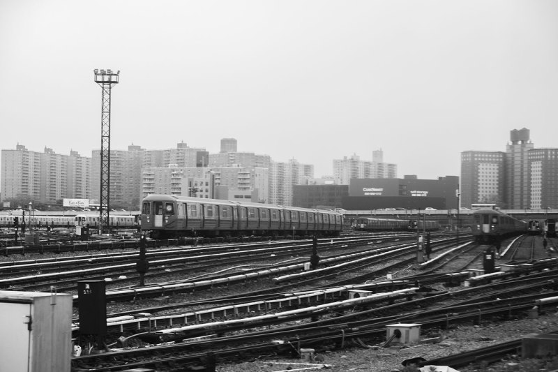 Train yard in Brooklyn