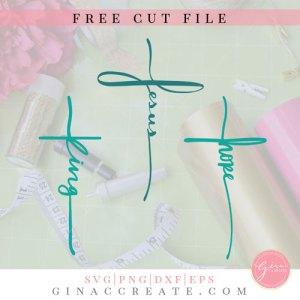 free svg cut file Jesus cross