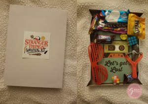 stranger things goodie bag, survival kit