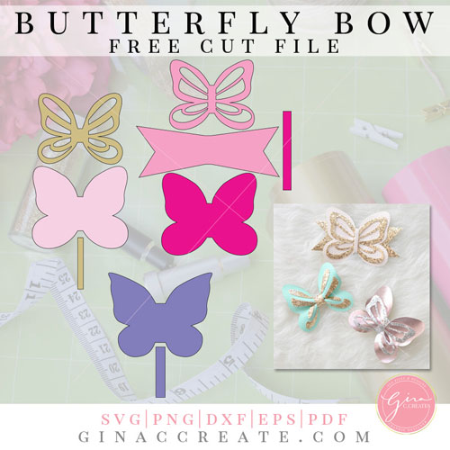 Butterfly Bow Free Template Amp Cut File Gina C Creates