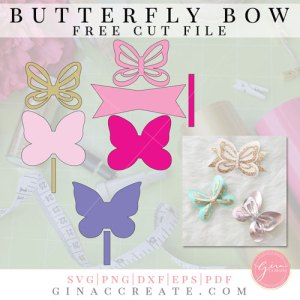 Butterfly Bow | Free Template & Cut File – Gina C  Creates