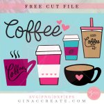 free coffee cup bundle svg