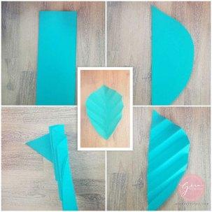 diy paper leaf