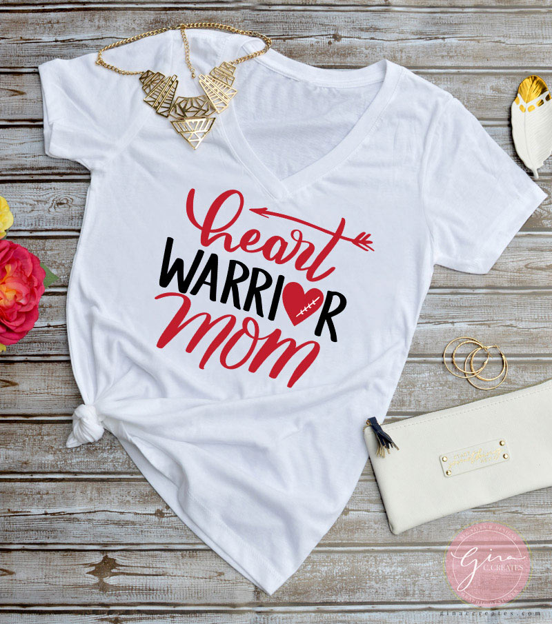 Heart Warrior mom free svg