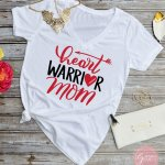 Heart Warrior mom free svg