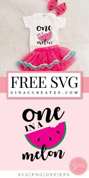 a7fba7ce0 Free SVG Cut File | One in a Melon – Gina C. Creates