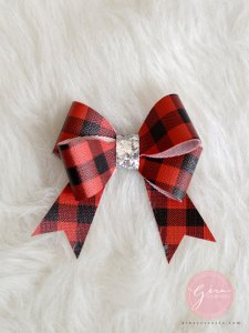buffalo plaid bow svg
