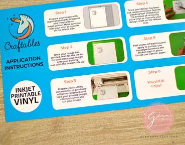 photo regarding Printable Inkjet Vinyl named How towards hire Printable Water-resistant Vinyl upon a mug Gina C. Produces