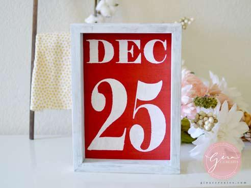 diy december 25 christmas sign