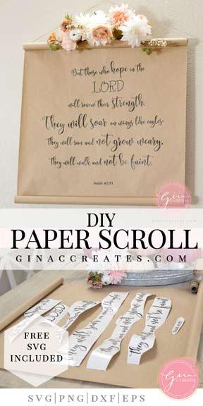 diy paper scroll 1