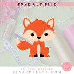 baby fox free svg