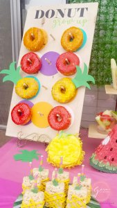 fruit donuts party ideas