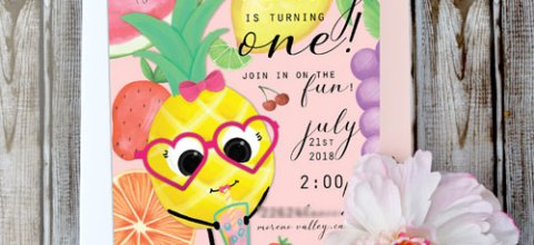 Fruit Theme Birthday Party | Free SVG & Printable files
