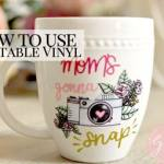 how to use printable water proof vinyl on mug