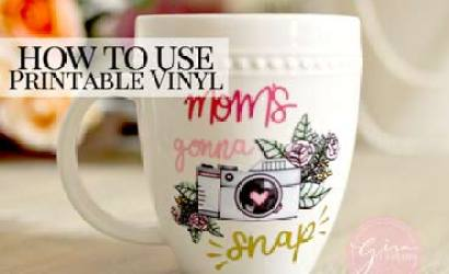How to use Printable Waterproof Vinyl on a mug